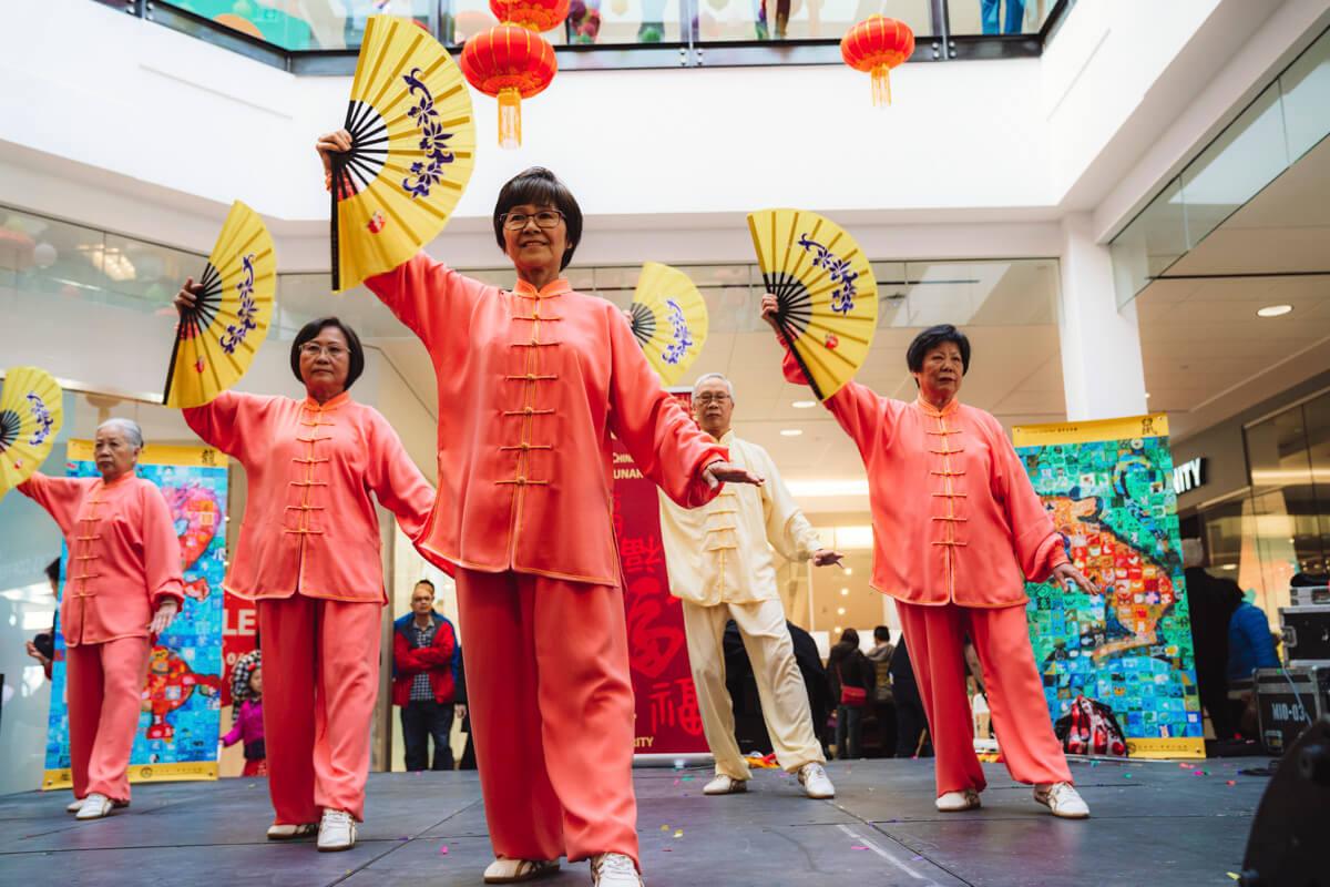 Lunar New Year dancers