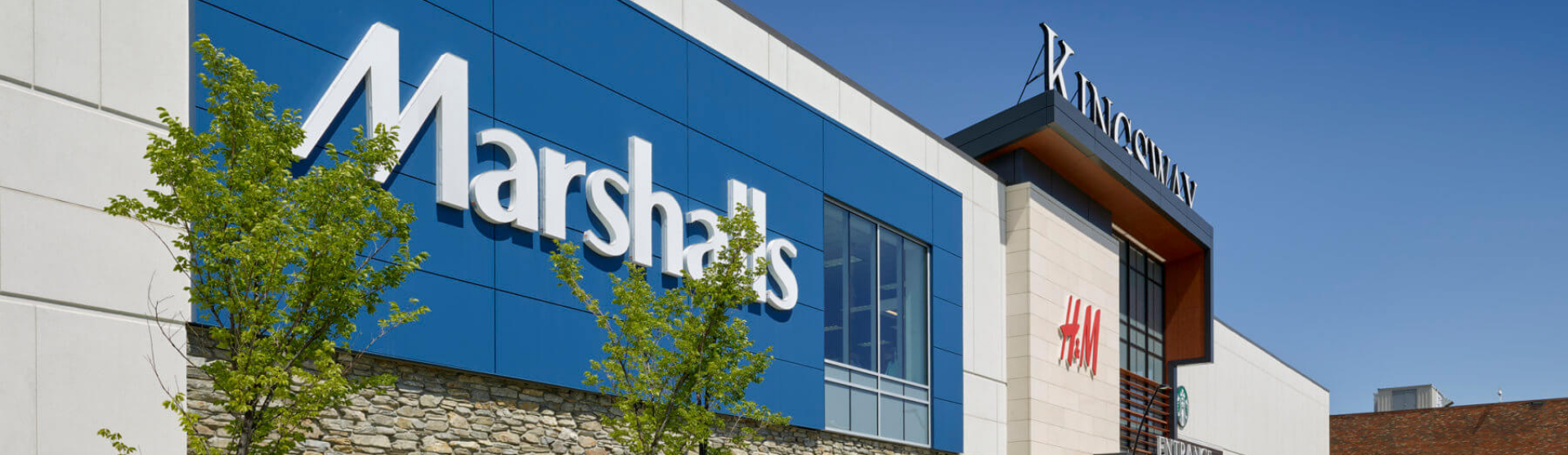 Exterior shot of Kingsway showing Marshall's and H&M