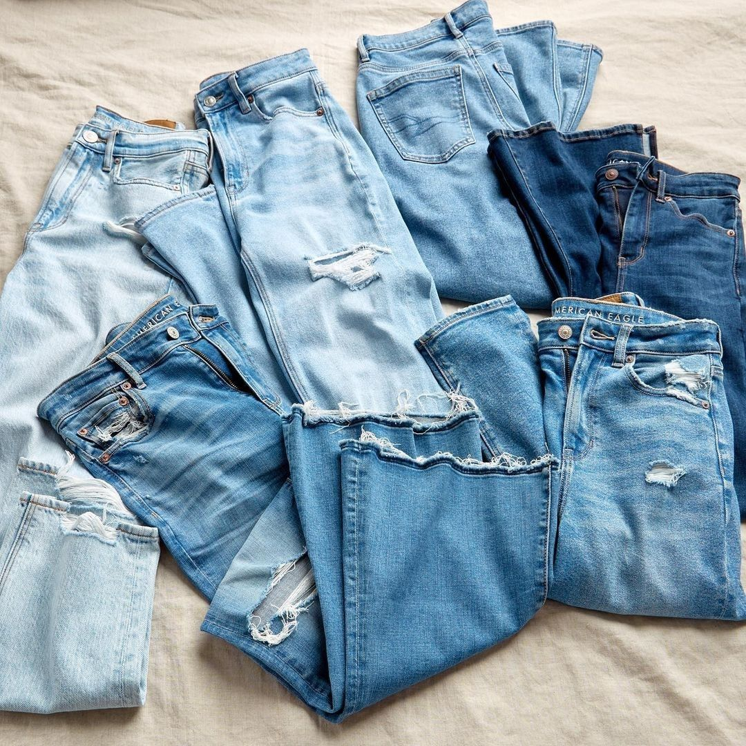 Flatlay of jeans