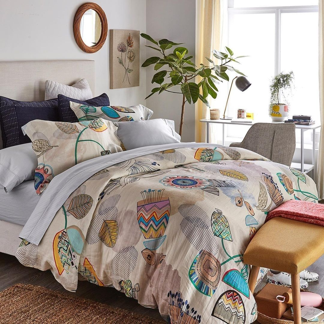 Colourful bedding