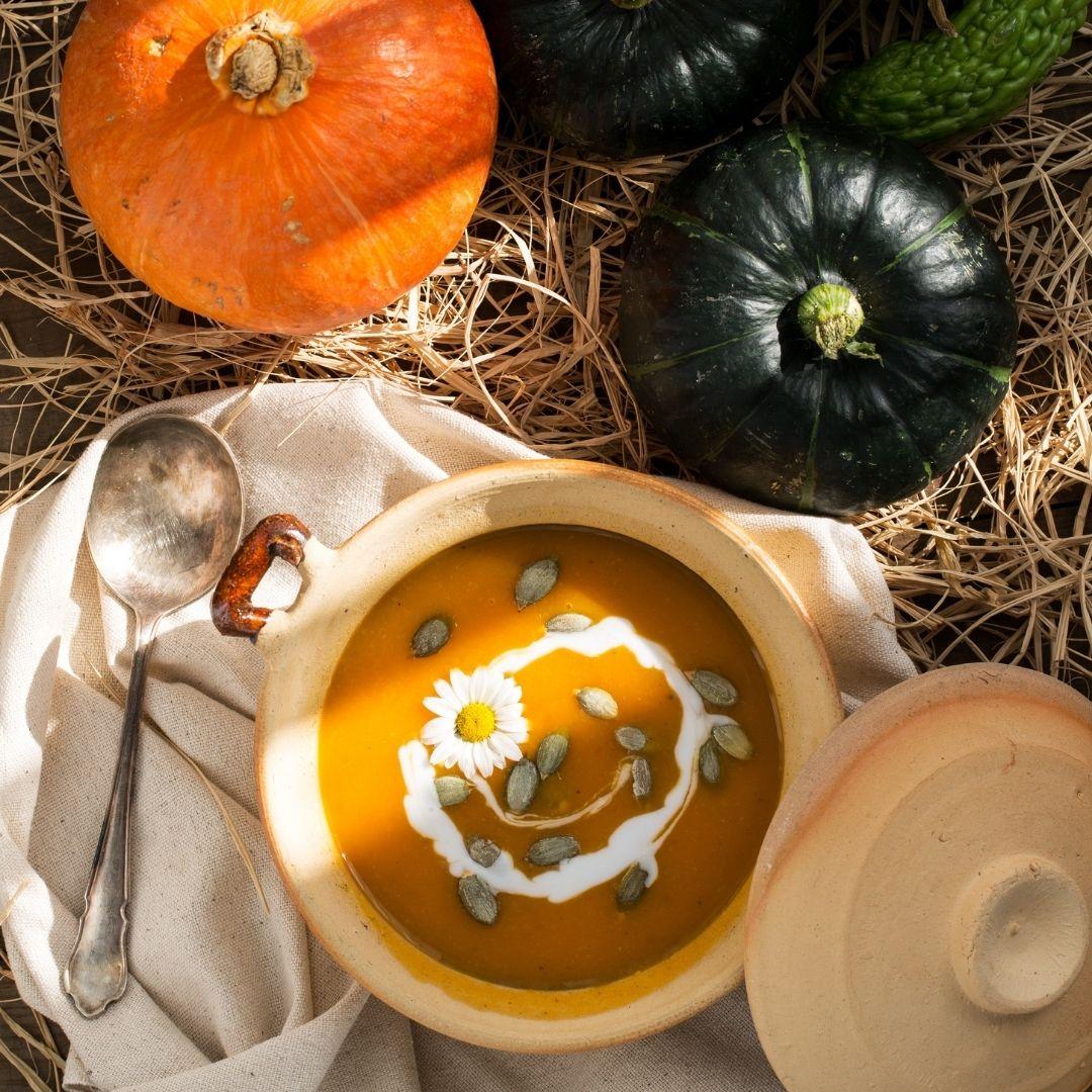 Pumpkins and pumpkin soup